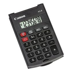Taschenrechner »AS-8« grau, Canon, 6x1.14x9.7 cm