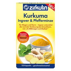 ZIRKULIN Kurkuma Ingwer & Pfefferminze Kapseln 15 St