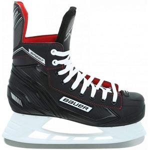Bauer 137043 Speed Skate JR EH-Skate,schwarz-we, Größe:5-38 1/2 EU, Farbe:schwarz-Weiss-rot-Silber