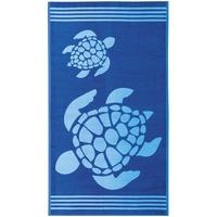 Delindo Lifestyle Tropical Sonne Strandtuch 100 x 180 cm blau