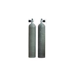 MES Aluflasche mit Nitrox Ventil 12401 Handrad links - Farbe: natur - Größe: 11.1 L