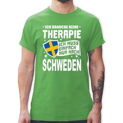 Shirtracer T-Shirt Ich brauche keine Therapie Ich muss einfach nur nach Schweden - weiß - Herren Premium T-Shirt XL