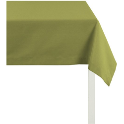 APELT Tischdecke 4362 Rips - UNI (1-tlg) grün quadratisch - 100 cm x 100 cm