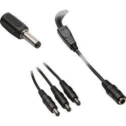 BKL Electronic 072936 Niedervolt-Adapterkabel Niedervolt-Buchse - Niedervolt-Stecker 5.5mm 2.1mm 5.5