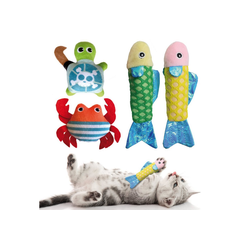 KaraLuna Tier-Beschäftigungsspielzeug Katzenspielzeug Set mit Katzenminze, 4-teilig, Plüschtiere mit Katzenminze, Katzenminze Spielzeug