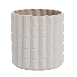 Nordal Opal Vase Edgy 16 cm - Weiß