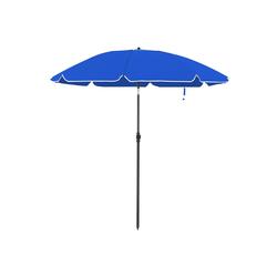 SONGMICS Sonnenschirm GPU65GNV1 GPU65BUV1, Gartenschirm für Strand, Ø 200 cm, UPF 50+, Schirmrippen aus Glasfaser blau