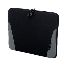 Titan Flex Laptophülle M 38 cm - schwarz