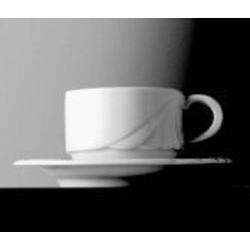 Kaffeeobertasse AMBIENTE, Inhalt 0,18 ltr., ohne Untertasse, uni weiss,