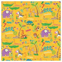 STAR Geschenkpapier, Geschenkpapier Kinder 70cm x 2m Rolle gelb