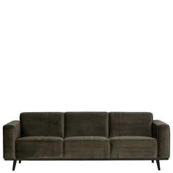 3er Sofa in Dunkelgrün Samt 230 cm breit