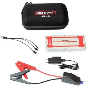 Dino KRAFTPAKET Schnellstartsystem, Starthilfekabel 12V 1500A 62.9Wh 136150 Starthilfestrom (12 V)=5