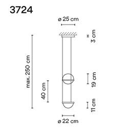 Palma 3724 Pendelleuchte, 1-flammig, graphit matt, Pflanzentopf