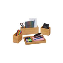 relaxdays Schreibtischaufsatz Schreibtisch Organizer Set