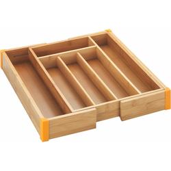 WENKO Besteckkasten Bambus, ausziehbar beige Küchen-Ordnungshelfer Küchenhelfer Küche