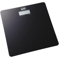 MSV Digitale Personenwaage Körperwaage Waage Gewichtswaage aus Sicherheitsglas, Slim Design, Schwarz