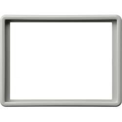 Gira 093442, Abdeckrahmen 2f-Steckd. S-Color Grau