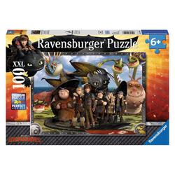 Ravensburger Puzzle Dragons: Ohnezahn Und Seine Freunde, 100 Puzzleteile bunt