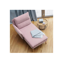 PLACE TO BE. Recamiere, Recamiere Ottomane Chaiselongue Sitzbank Polsterbank Tagesbett Daybed mit Armlehne links rosa
