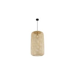 Globo Lighting Pendelleuchte Mirena mit Bambusschirm, 39 cm