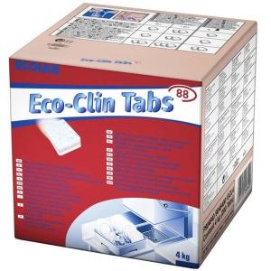 ECOLAB Eco-clin Tabs Geschirrspül-Tabs, Für saubere Wäsche mit langanhaltendem Frischeduft, 1 Karton = 200 Tabs à ca. 20 g