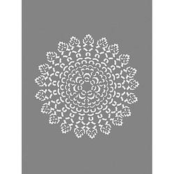 Rayher Dekor-Schablone Ornament grau