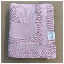 Babydecke Babydecke Kinderdecke Kinderwagendecke Kuscheldecke Strickdecke Blanket 80 x 100 cm Baumwolle & Bambus, Welt der Träume, sehr weich und kuschelig rosa