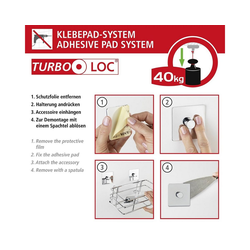 WENKO Turbo-Loc® Handtuchstange Turbo-Loc Quadro