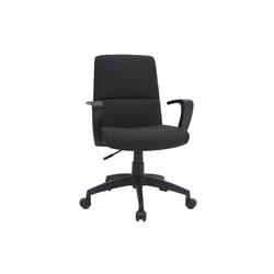 Designer-Bürostuhl schwarz Stoff CHUCK