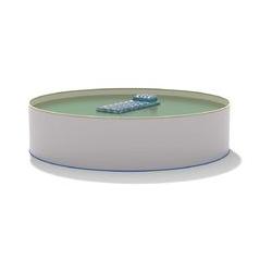 Hobby Pool - Pool Ø 3,00 x 1,50 m Folie sand 0,8mm EB, Stahl 0,7mm