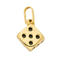 Adelia´s Kettenanhänger 585 Gold Anhänger Würfel