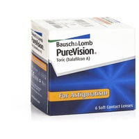 Bausch + Lomb PureVision 6 St. / 8.70 BC / 14.00 DIA / -6.00 DPT / -1.75 CYL / 70° AX