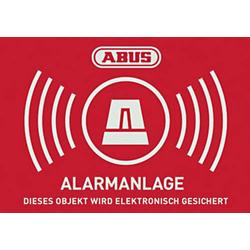ABUS AU1423 Warnaufkleber Alarmanlage Sprachen Deutsch (B x H) 74mm x 52.5mm