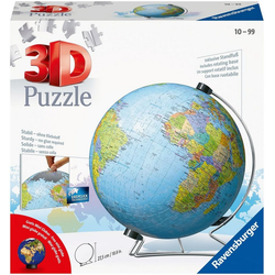 Ravensburger Puzzleball Globus in deutscher Sprache, 540 Puzzleteile, Made in Europe