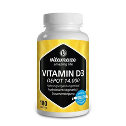 VITAMIN D3 14.000 I.E. Depot hochdosiert Tabletten 180 St