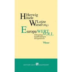 Europa wertvoll als Buch von