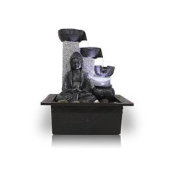 Kiom Dekoobjekt Zimmerbrunnen FoBuddha Pot mit LED 26 cm