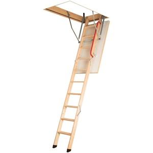Gedämmte Bodentreppe, Holztreppe, Speichertreppe, Dachbodentreppe - Viele Größen und Modellen (LWK Komfort, 60 x 120 x 280 cm)