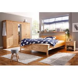Home affaire Schlafzimmer-Set, (Set, 4-tlg), bestehend aus 180er Bett, 5-trg Schrank und 2 Nachttischen