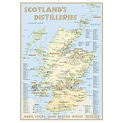 Whisky Distilleries Scotland - Poster 42x60cm - Standard Edition