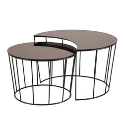 Zestaw stolików kawowych Lobor o średnicy 58 cm i 76 cm