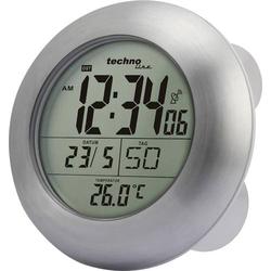 Techno Line WT 3000 Funk Wanduhr 17.2cm x 5.4cm Silber Badezimmer-/Feuchtraum geeignet