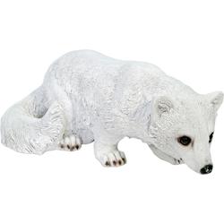 Tierfigur »Schneefuchs«, Dekofiguren, 24938454-0 weiß weiß