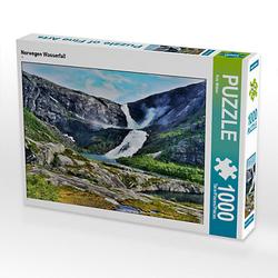 Norwegen Wasserfall Lege-Größe 64 x 48 cm Foto-Puzzle Bild von fotokunst13 Puzzle