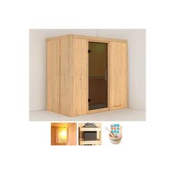 KONIFERA Sauna Willa, BxTxH: 196 x 118 x 198 cm, 68 mm, ohne Ofen