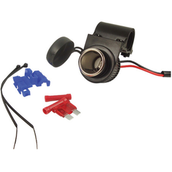 Booster 12V Sigarettenaansteker socket met clip houder, zwart, Eén maat