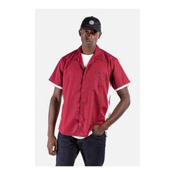 Hemd REELL - Bowling Shirt Red/White (190) Größe: L