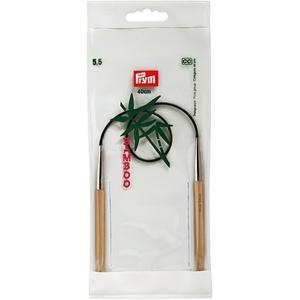 Prym 221529 Rundstricknadeln, 40 cm, 5,50 mm Rundstricknadel, Bambus, Natur, 5,5 mm