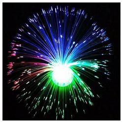 Gotui LED-Lichterkette Glasfaserlampe, Farbwechsel