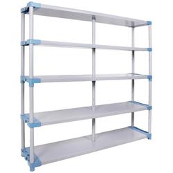 ONDIS24 Steckregal Maxim UP 170, 5 Fachböden, Kunststoff grau